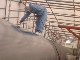 Blasting and painting of piperacks and steel structure