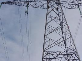 High voltage pylons painting