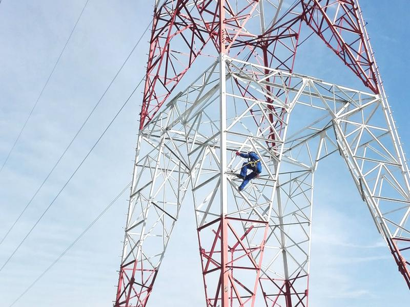 High-voltage-pylons-painting